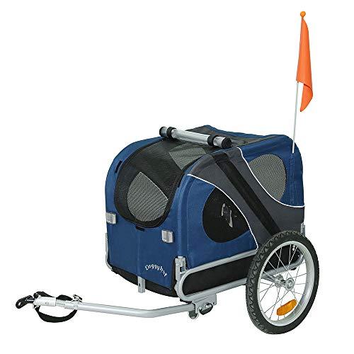 DOGGYHUT Remorque de vélo pour chien BLEU 10115-02