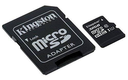 Kingston SDCS/32GB MicroSD Canvas Select UHS-I Classe 10 avec vitesse de lecture allant jusqu'à 80Mo/s (  avec adaptateur SD ) - Donnez vie à vos vidéos HD