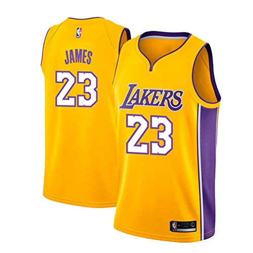 Runvian Maillot Hommes - Jersey NBA Lakers # 23 de Lebron James Maillot Swingman Basketball