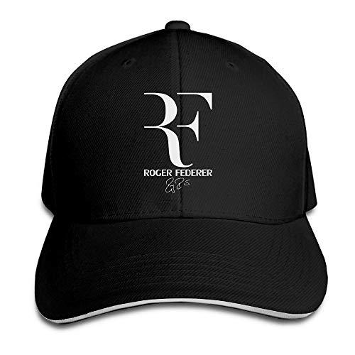 Miedhki Nubia Roger RF Federer Sandwich Peak Custom Hat Snapback Hat Black Fashion27