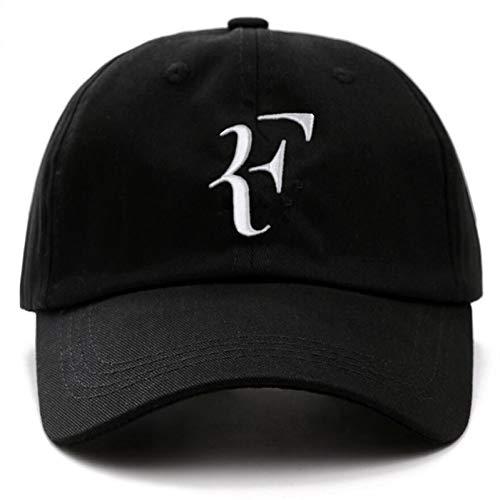 FHSOHG Unisexe Marque Caps Tennis Roger Federer Daddy Chapeau Sport Baseball Cap Coton 3D Broderie Tennis Chapeau F Lettre