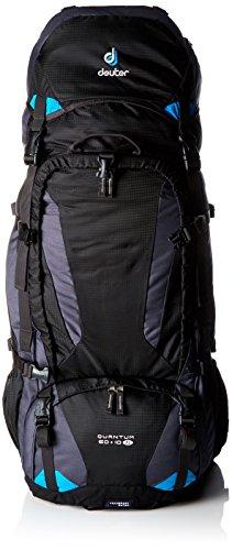 Deuter 3510315-7321 Sac à Dos Noir/Turquoise Taille : 80 x 30 x 23 cm, 60 + 10 L