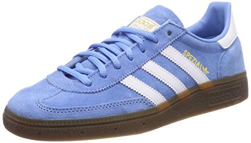 adidas Handball Spzl, Chaussures de Gymnastique Homme, Bleu Light Blue/FTWR White/Gum5, 47 1/3 EU