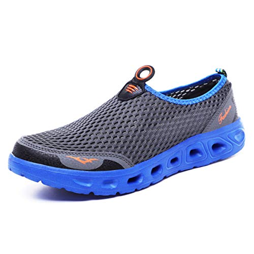 Yasuta Femme Homme Chaussures de Plage Chaussons pour Activités Aquatiques Chaussures d'Eau Sports Voyage Légères Sèchent Assez Vite Dgris42