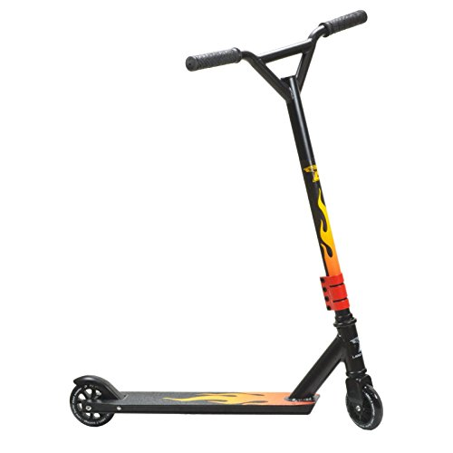 Trottinette Stunt Land Surfer Noir/Flamme
