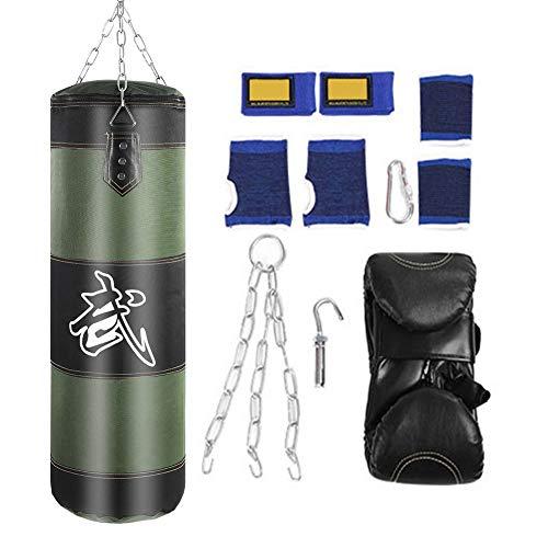 VGEBY1 Sac de Boxe, Sacs Lourds Sac de Frappe Equipement de Conditionnement Physique pour Le Sac sans Sable de Combat de Kick de Crochet de Boxe (80cm-Vert)