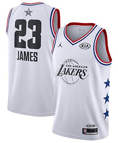 FDRYA Maillots de Basket-Ball pour Hommes NBA Lakers 23 Maillot James Jersey Chicago Bulls Maillot de Basket-Ball Shorts Bulls Michael Jordan-White-S(60-70kg)