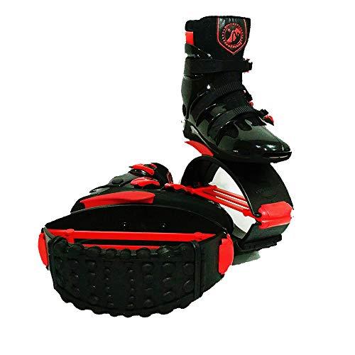 gengyouyuan Chaussures élastiques, Chaussures Qui rebondissent, videur d'espace(42-44 Verges (numéro XXL) Noir Rouge, 110)