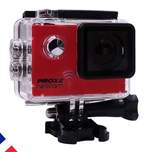 neocam PROX2 - Caméra Sport embarquée vidéo 4K24 FPS 1080p 60 FPS - Photo 20MP - Haute Performance + Kit Accessoires Compatible gopro
