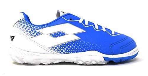 Lotto Spider 700 XV TF Jr, Chaussures de Futsal Mixte Enfant, Bleu (Blu ATL/WHT 010), 34 EU