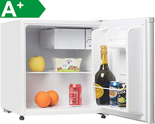 Melchioni ARTIC47LT Mini réfrigérateur Silencieux, Congélateur intégré, Réfrigérateur à boissons, Compresseur et Freezer, 47 Litres, Blanc