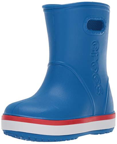 Crocs Crocband Rain Boot Kids, Bottes & Bottines de Pluie Mixte Enfant, Bleu (Bright Cobalt/Flame 4kd), 28/29 EU