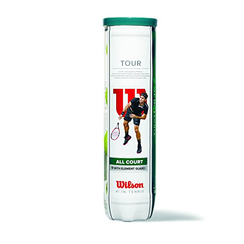 Wilson Balles de Tennis, Tour All Court, Lot de 3 balles, Toutes Surfaces, Jaune, WRT106300