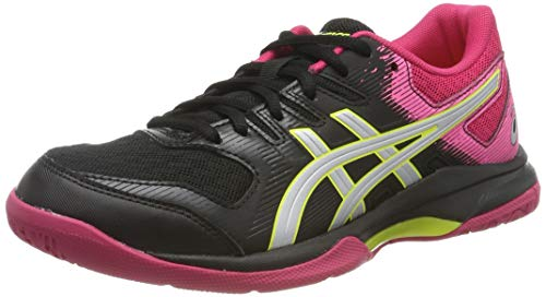 ASICS Gel-Rocket 9, Chaussures Multisport Indoor Femme, Noir (Black/Silver 002), 39 EU