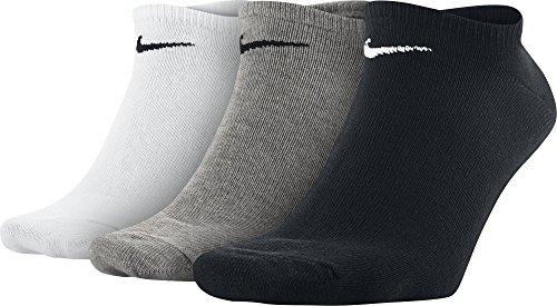 Nike - SX2554 - Chaussettes - Lot de 3 - Mixte Adulte - Multicolore (Noir/Blanc/Gris) - 38-42
