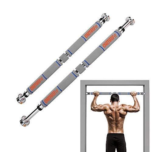 OneTwoFit Barre de Traction de Porte Gym Barre Horizontale de Porte de Gym Exercice Fitness OT033