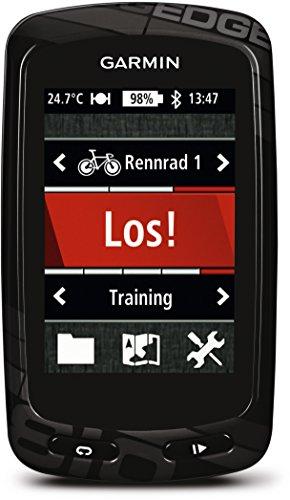 Garmin - Edge 810 avec ceinture cardio et capteur de Vitesse/Cadence - Compteur GPS de vélo - Ecran tactile couleur de 2,6'' - Carte City Navigator Europe - Noir