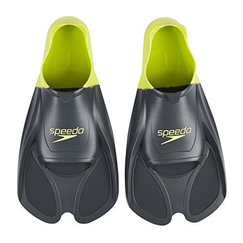 Speedo - 808841B076 - Biofuse - Palmes de training - Mixte Adulte - Multicolore (Gris Oxyde/Citron Vert) - 39-41 EU