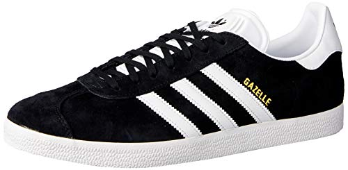 adidas Gazelle, Baskets Homme - Noir (Core Black/White/Gold Metallic) - 44 2/3 FR