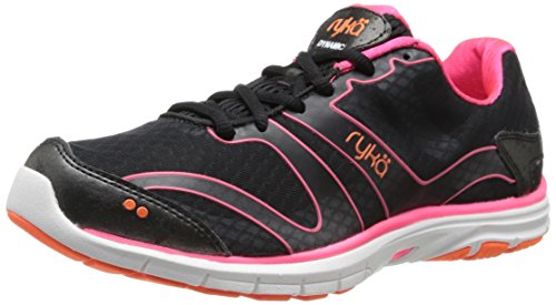 RYKÄ Dynamic La de la Femme Chaussures - - Multicolore - Noir/Corail/Orange (Black/Coral Rose/Atomic Orange), 8 B(M) US EU