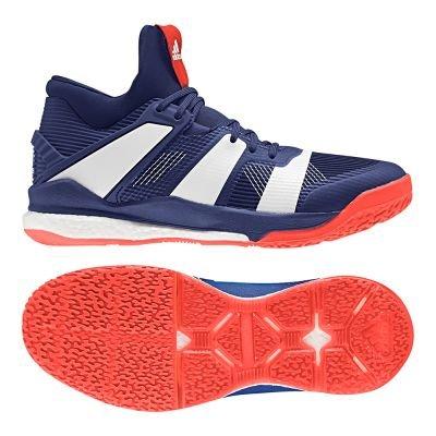adidas Stabil X Mid, Chaussures de Handball Homme, Multicolore (Tinmis/Ftwbla/Rojsol 000), 50 EU