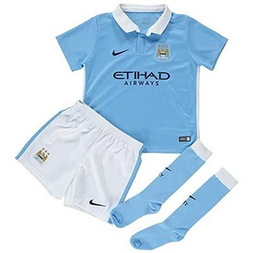 2015-2016 Man City Home Nike Little Boys Mini Kit
