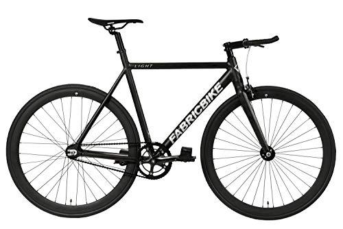 FabricBike Light - Vélo Fixie, Fixed Gear, Single Speed, Cadre et Fourche Aluminium, Roues 28', 3 Tailles, 4 Couleurs, 9,45 kg (Taille M) (M-54cm, Light Matte Black)