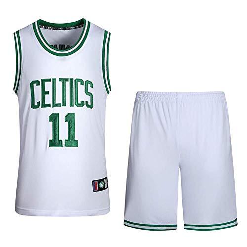 CHXY NBA Maillot De Basketball - NBA Celtics 11# Irving All-Star Player, Débardeur Classique Et Respirant sans Manches, Débardeur De Basket-Ball,White-XL