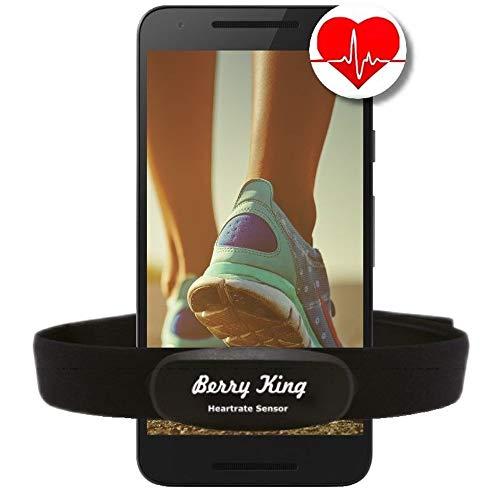 Bluetooth & ANT+ pour Garmin Wahoo Polar RUNTASTIC STRAVA ENDOMONDO TomTom Apple iPhone Android Bracelet de sangle thoracique pour moniteur de fréquence cardiaque HRM Sensor