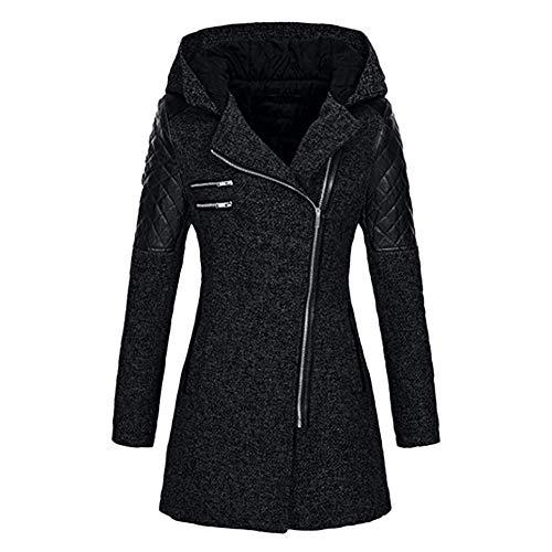 Veste Slim Femme Chaude Parka épais Manteau d'hiver Fermeture à Capuche Manteau