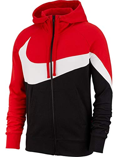 Nike M NSW HBR Hoodie FZ FT STMT Sweat-Shirt Homme, University Red/White/Black/Bla, FR (Taille Fabricant : XL)