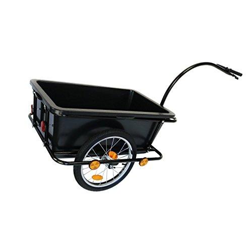 Oypla Remorque de vélo Chariot avec Accouplement et pneumatique des pneus 90L Cargo