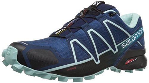 Salomon Femme Speedcross 4, Chaussures de Trail Running, Bleu (Poseidon/Eggshell Blue/Black), Taille: 38