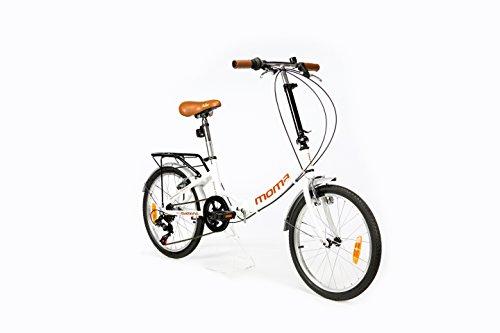 Moma Bikes Vélo de Ville Pliant First Class 20', Aluminium, SHIMANO 6V, Selle Comfort