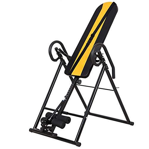 Machine inversée Civière protectrice réglable de bretelle de dos de ceinture d'inversion résistante Table d'inversion pour l'entraînement du dos ( Couleur : Black yellow , Taille : 188*75*104cm )