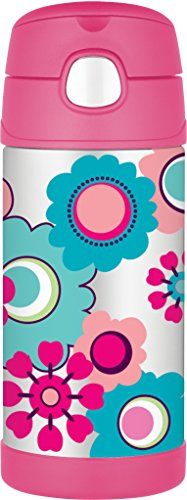 Thermos Bouteille Motif Floral Rose 355ML