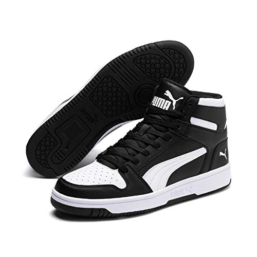 Puma Rebound Layup SL, Baskets Mixte Adulte, Black White 01, 8 EU