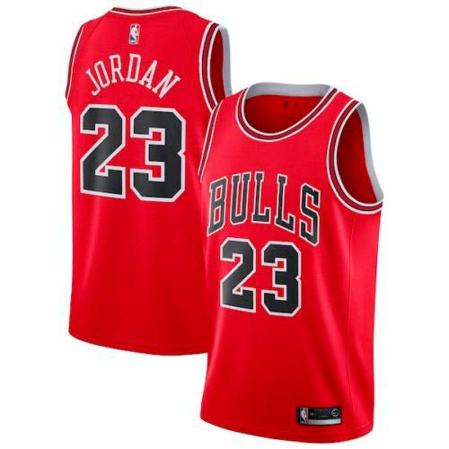 Zhao Xuan Trade Taureaux Jersey Champion NBA Vintage Jersey Michael Jordan Maillot Swingman Basketball Mesh # 23 de Chicago (Rouge, XL)