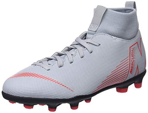Nike Jr Superfly 6 Club Fg/mg, Chaussures de Futsal mixte enfant - Multicolore (Wolf Grey/Lt Crimson/Black 060), 38 EU (5 UK)