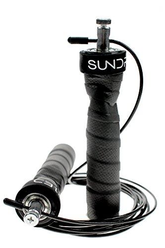 Sundried Corde à Sauter pour Fitness Boxe Corde de Vitesse (Inclut 2Câbles et Une Housse de Transport)