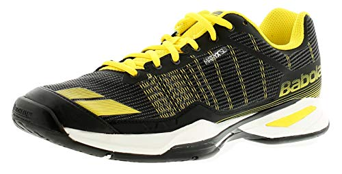 Babolat Jet Team All Court, Chaussures de Tennis Homme, Multicolore (Noir/Jaune), 44 EU