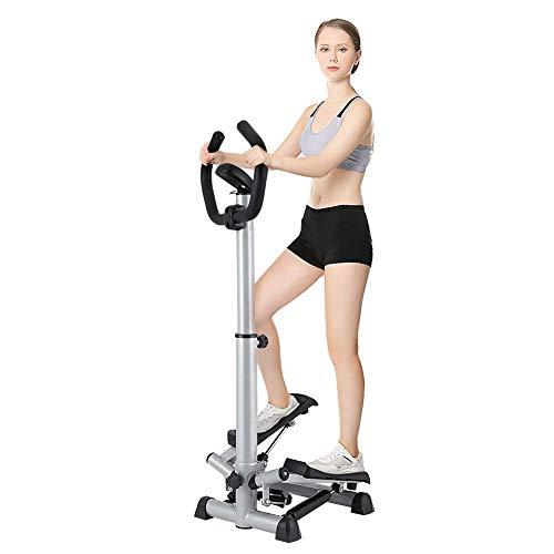 Ejoyous Stepper pour l'exercice, Réglable Étape D'entraînement Machine Pas à Pas d'escalier Pliant avec Guidon et Moniteur LCD pour Équipement de Conditionnement Physique à la Maison