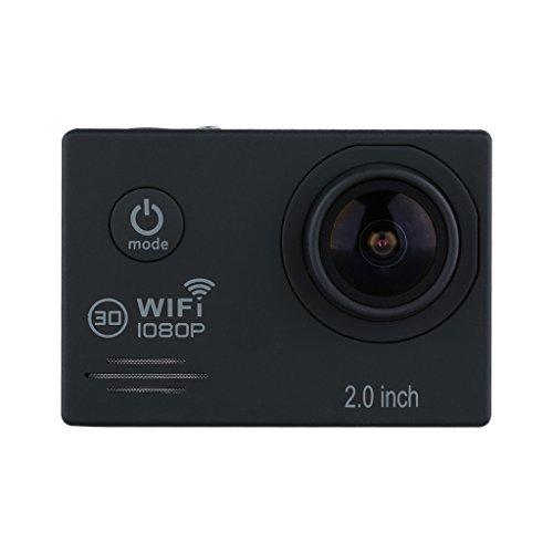 """Excelvan TC-J6 Multifonction 2.0"""" HD WIFI Camera Sport 30M Étanche Caméra Embarquée 1080p H.264 14MP 170° Anti-bougé Noir"""