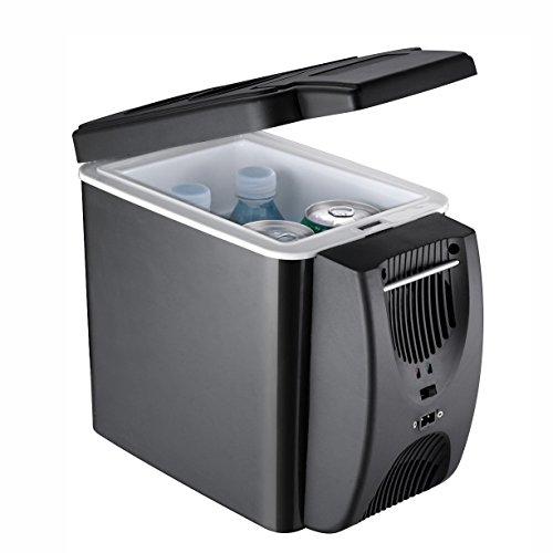 LT&NT Réfrigérateur De Voiture 6 litres Portable Mini Électrique Frigo Chaud Cool Box 12 V Congélateur Refroidisseur Voyage en Plein Air Pique-Nique Camping 2 Trous de Refroidissement