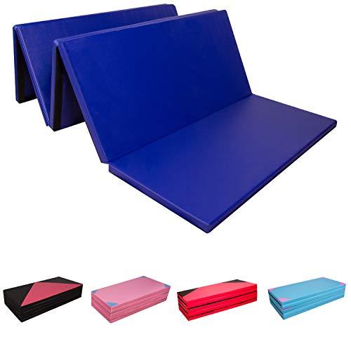 CCLIFE 300 x 120 x 5 cm Tapis de Sol pour Gymnastique Epais Matelas Gymnastique Pliable Anti Derapant, Couleur:Bleu