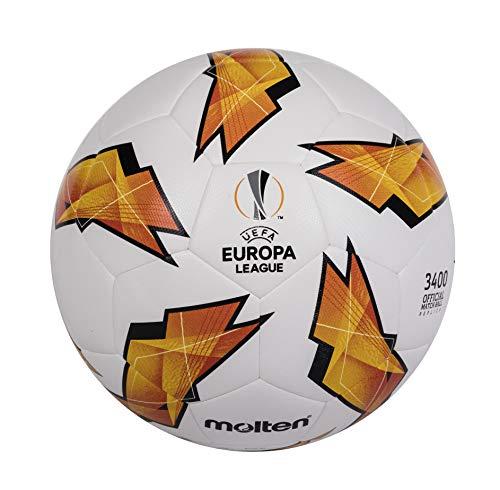 Molten Réplique du UEFA Europa League-3400Modèle Ballon de Match Officiel Size 5 Orange
