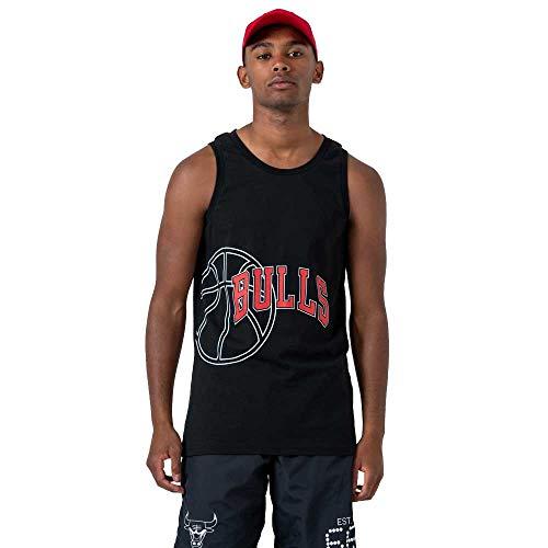 New Era NBA Team Graphic Tank Vest (Medium, Chicago Bulls - Black)