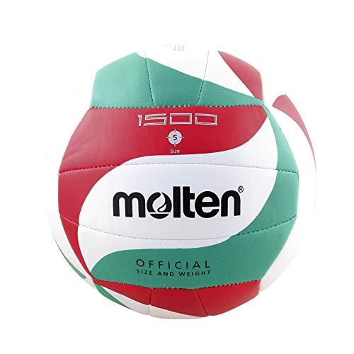 Molten V5M1500 - Ballon de volleyball, couleur blanc/vert / rouge, taille 5