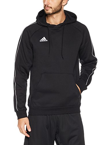 adidas Core 18 Hoody Sweat-Shirt à Capuche Homme, Black/White, FR (Taille Fabricant : XL)