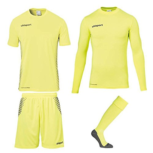 Uhlsport - Score - Ensemble de gardien de but - Mixte Adulte -  Jaune (Fluo/Noir) - 14 ans